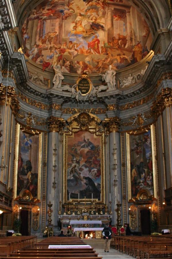 High altar, S Ignazio, Rome