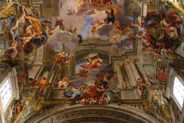 Sant'Ignazio, Rome, portal