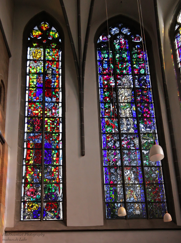 Windows at Maccabees Choir, St. Andreas, Cologne