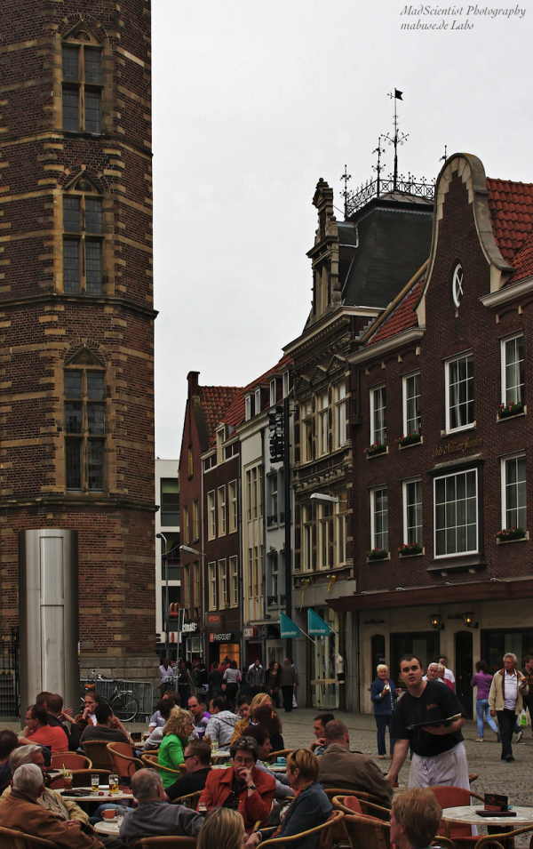 Pondering people at Venlo's town hall