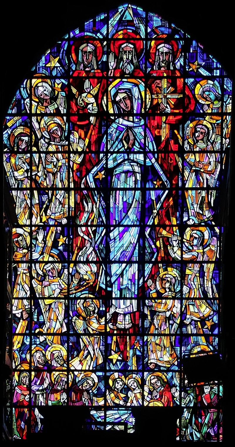 Église St-Nicolas, Brussels: Assumption Window