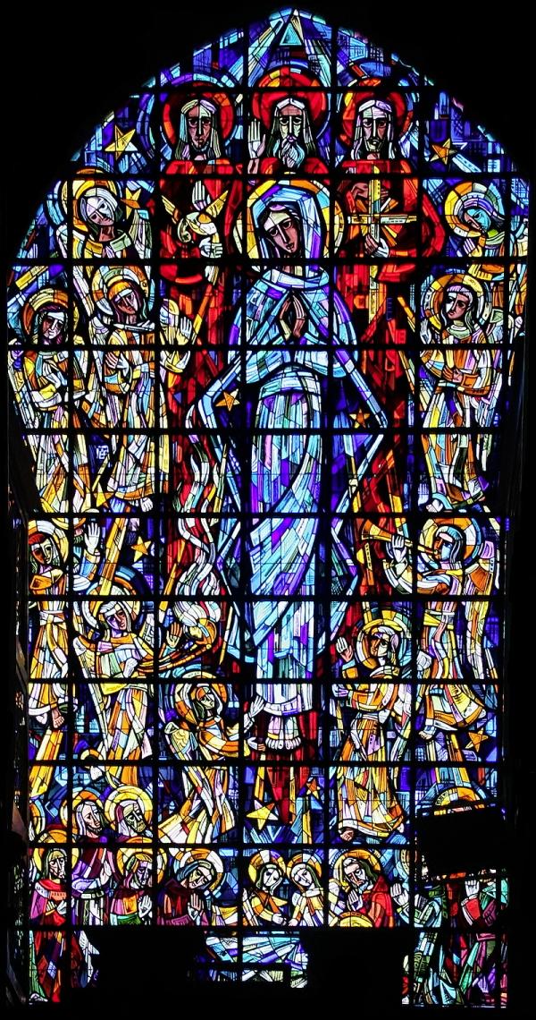 Église St-Nicolas, Brussels: Assumption Window