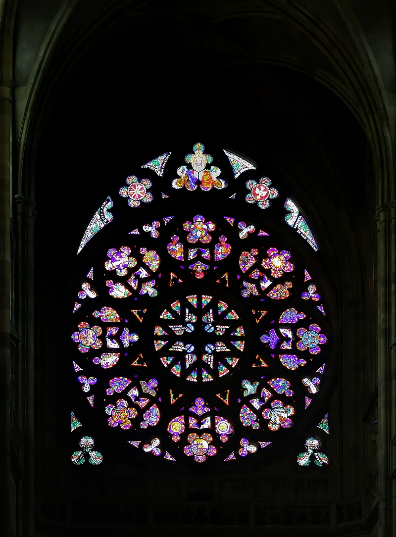 St Vitus Cathedral, Prague: Rose Window