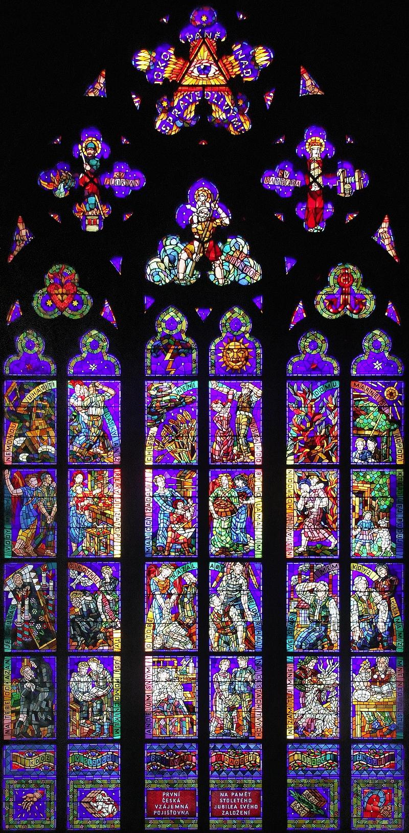 St Vitus, Prague: Window in Thun Chapel