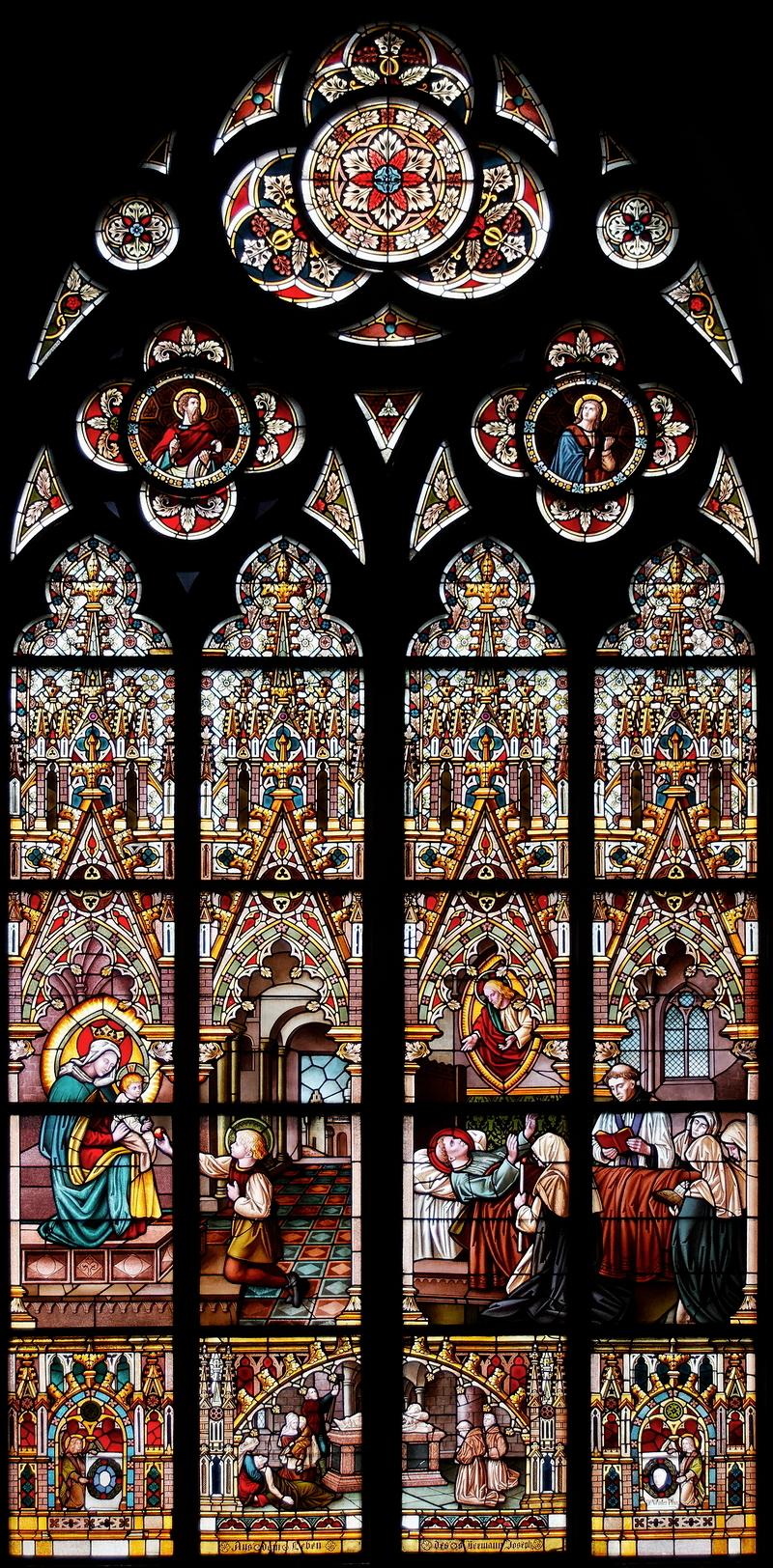 St Marien: Hermann Joseph Window