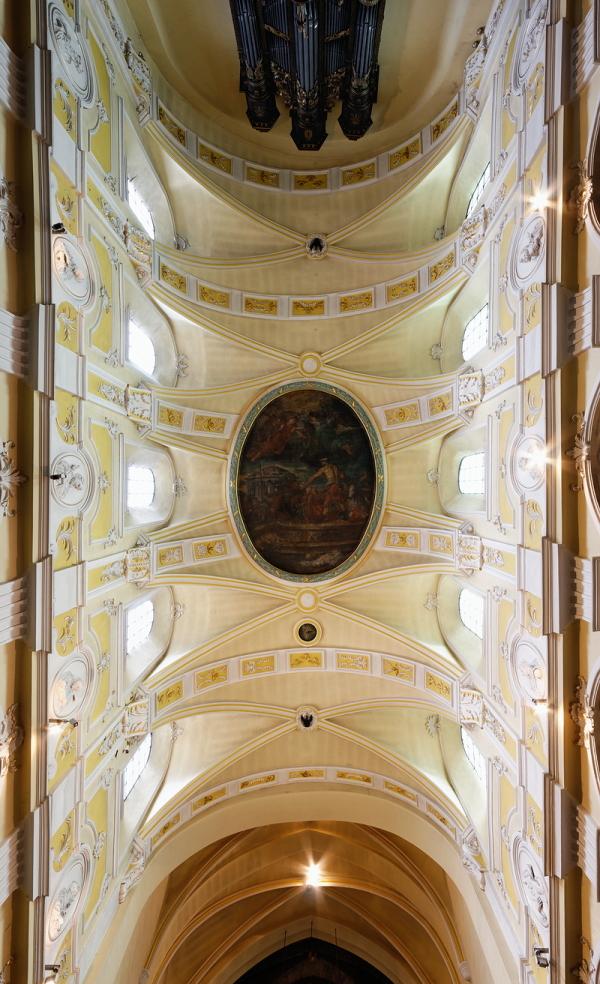 St Denis, Liège: Ceiling