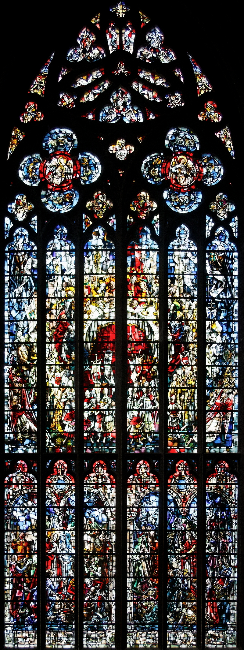 St Paul, Liège: Southern Transept Window