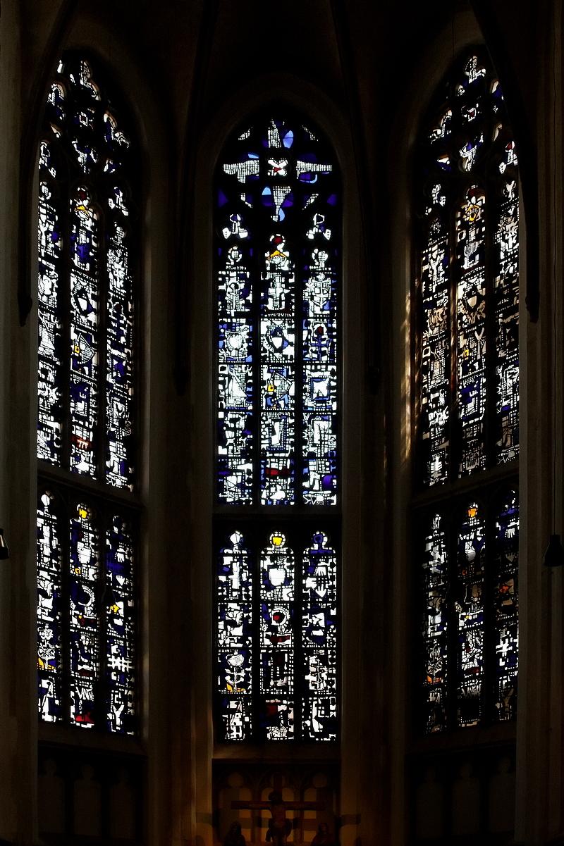 Modern Window In Old Tracery