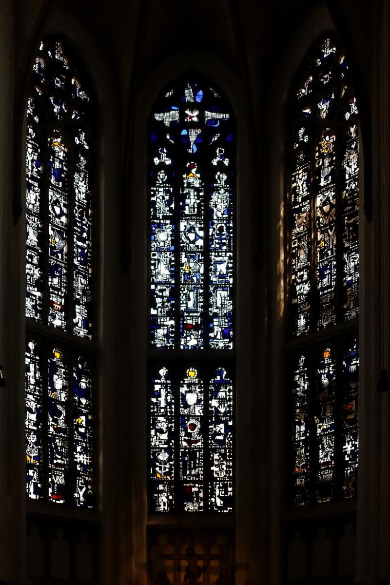 Choir windows of Citykirche, Mönchengladbach
