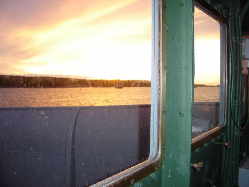 coucher de soleil en passerelle