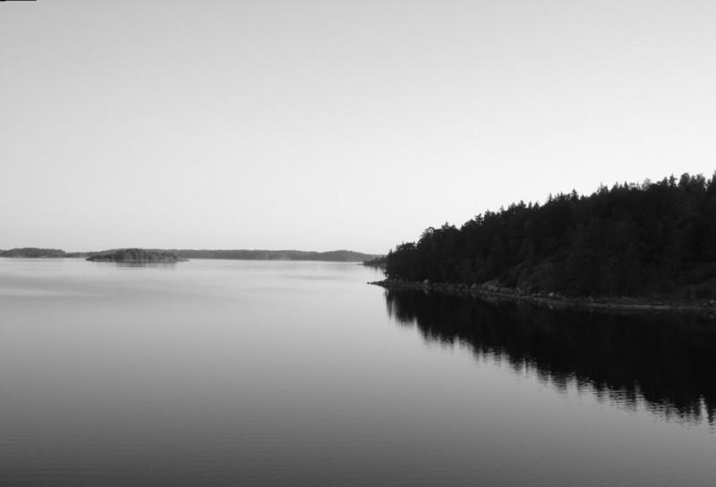 fjord sur la route de Stockholm