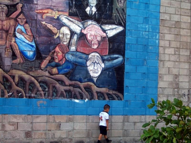 war boy mural of oscar romero el salvador flmn