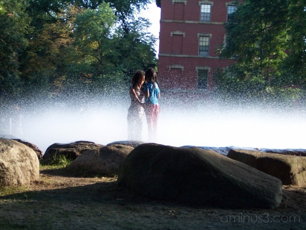 A fountain at Harvard