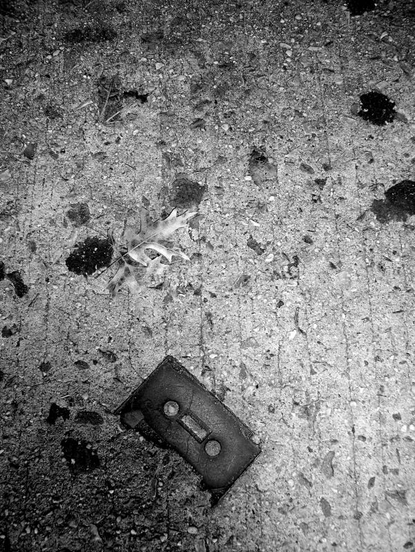cassette tape discarded new york sidewalk