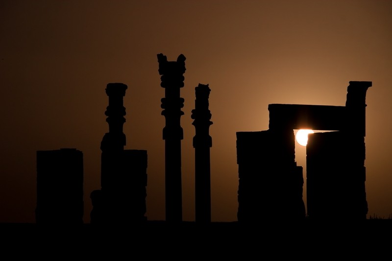 perspolis, shiraz, sunset