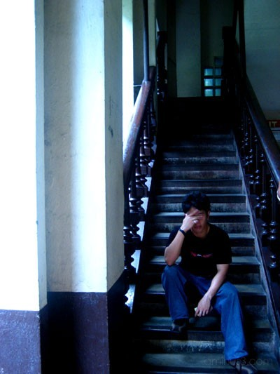 BJ at the UST stairs