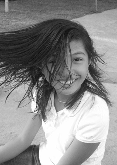Joanna forever flipping her wet hair