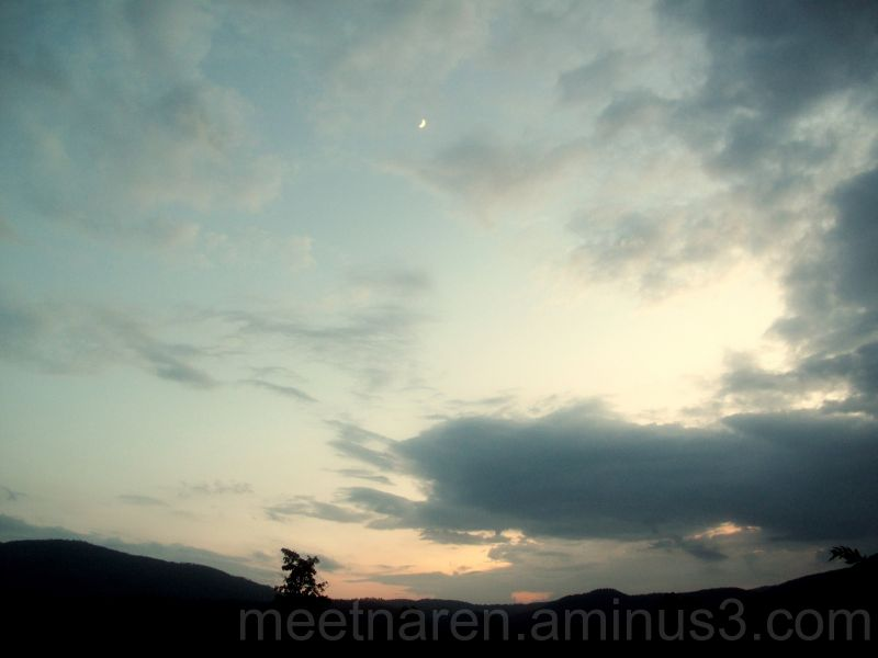 evening sky with the moon