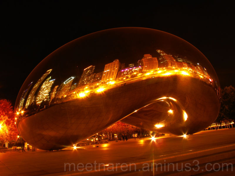 The Bean - at night