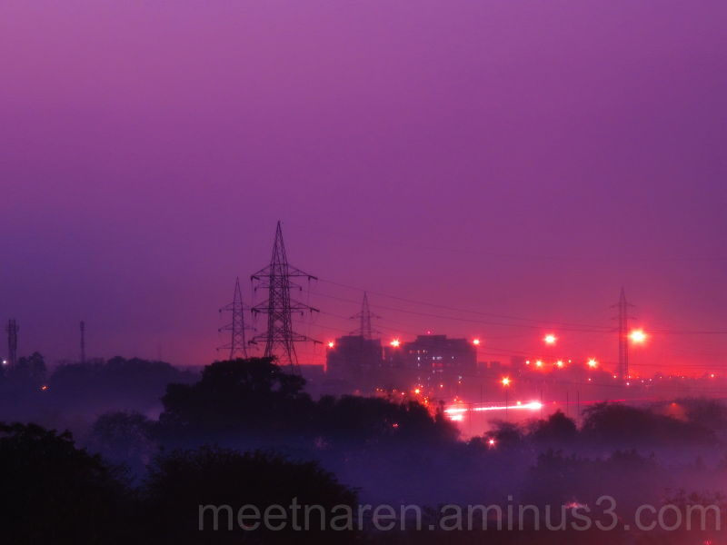Foggy evening in Jampot
