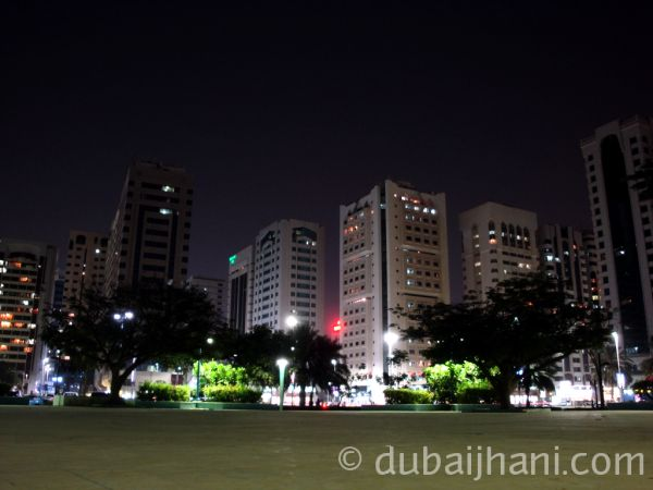 Abu Dhabi City night view