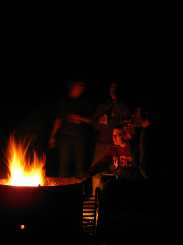 Nothing like smoking a stoagie round the campfire