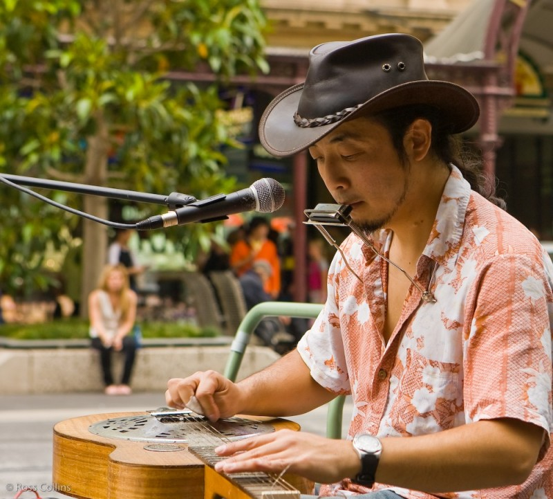 Busking the blues