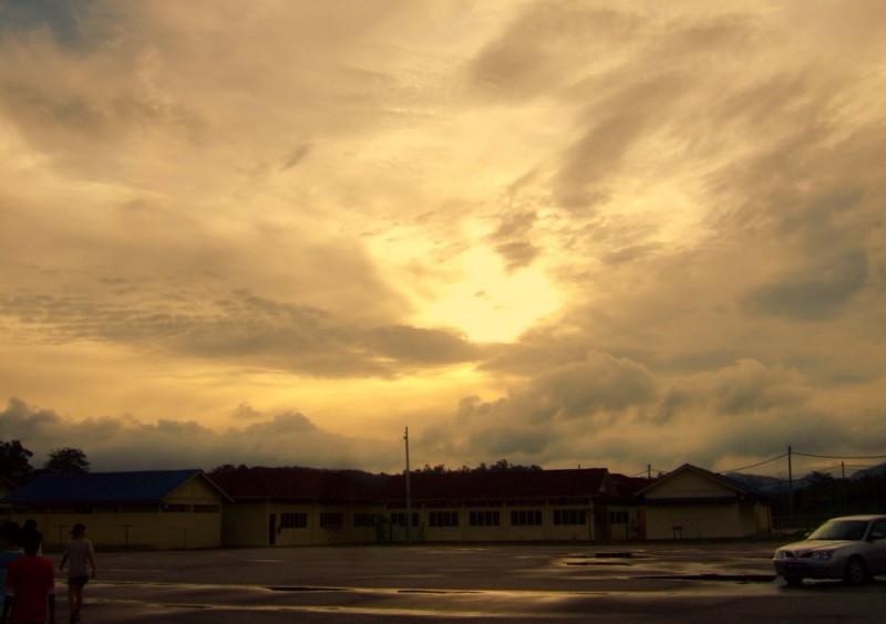 The Evening Sky Above Kuala Kubu Baru