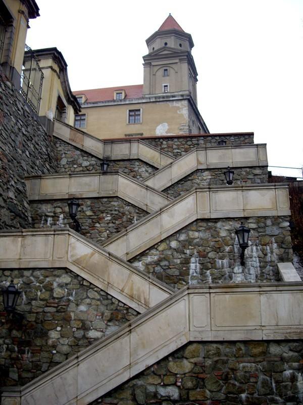 Steps to Bratislava Castle