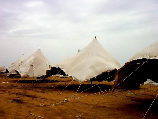 Blowing tents - Saudi Arabia