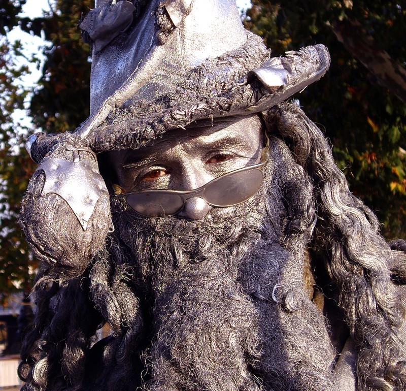 The wizard - A London statue man