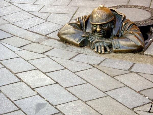 Cumil - A sculpture - Bratislava, Slovakia