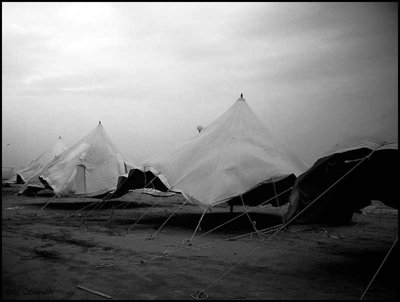 Tents in a tempest