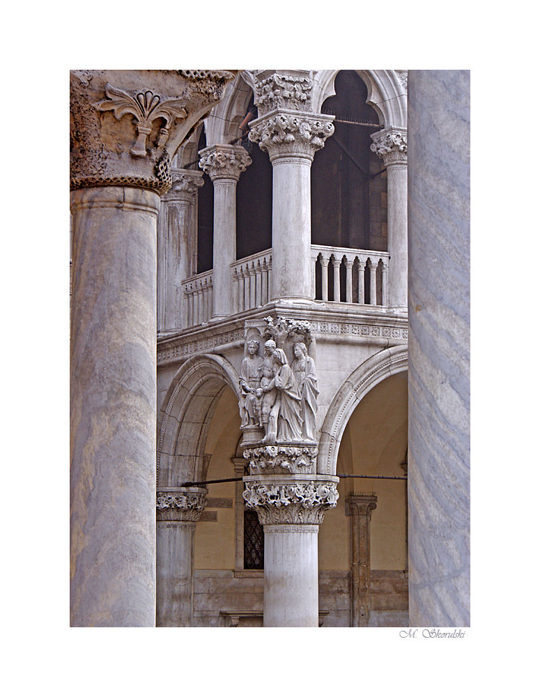 Between the columns