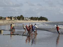 Fishermen and net