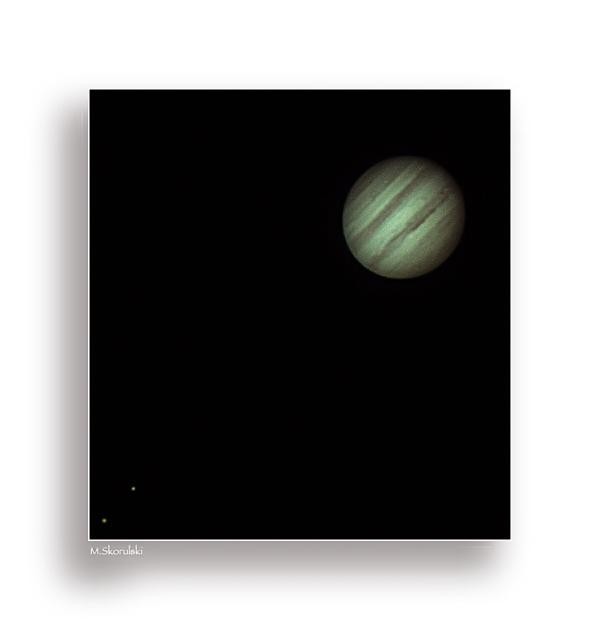 Jupiter and 2 moons