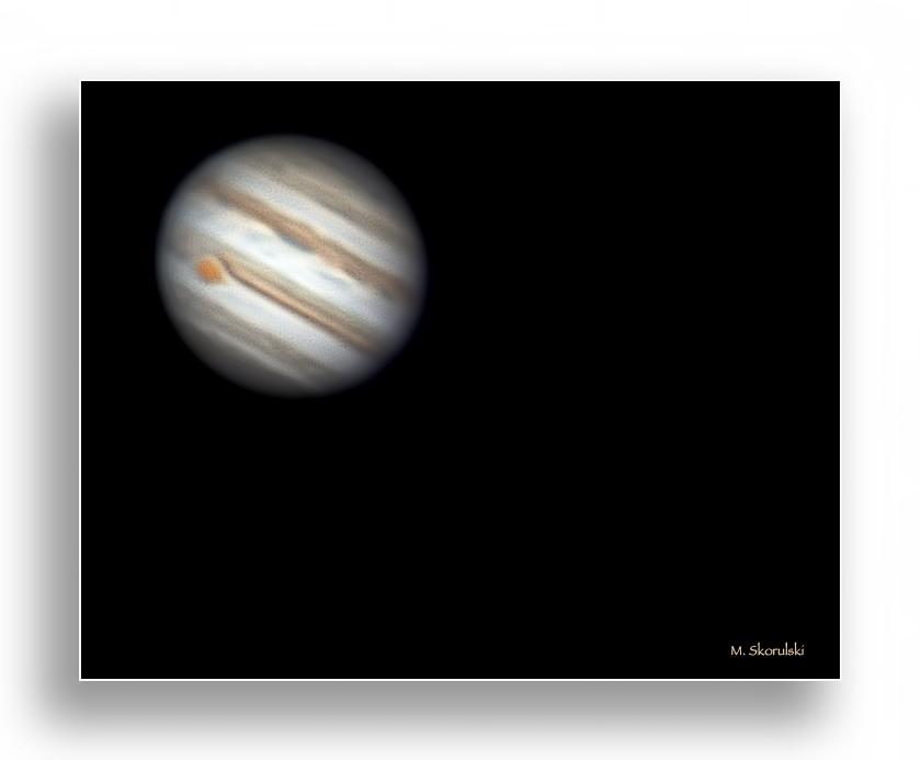 The Planet, Jupiter - 588 million km. away