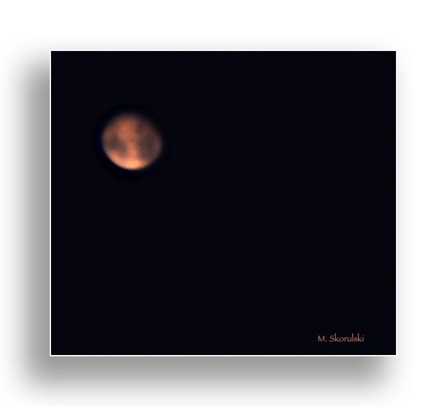 Mars, the red planet from 255 million kilometers