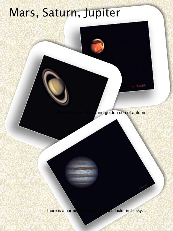 Mars, Saturn and Jupiter