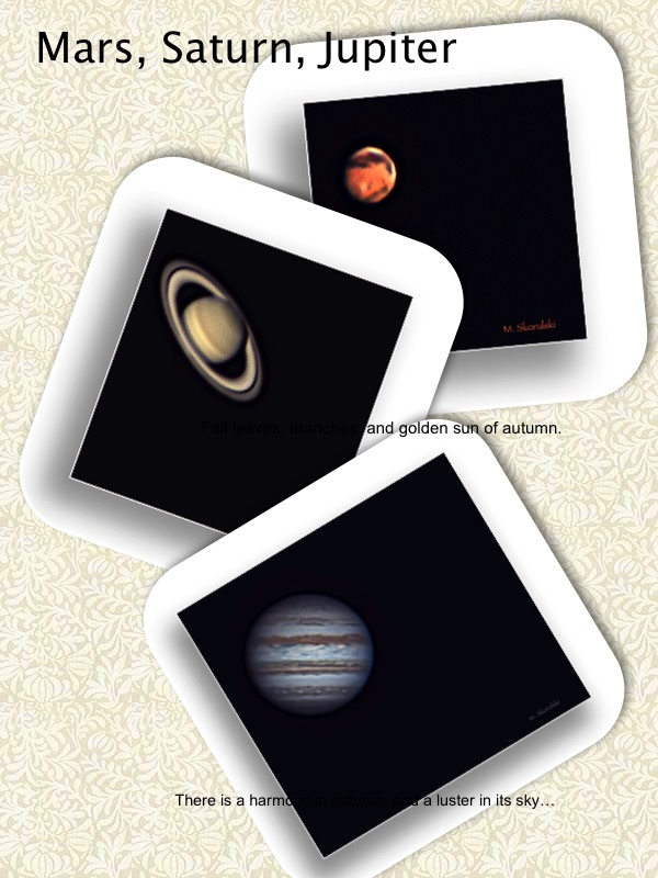 Mars, Saturn and Jupiter