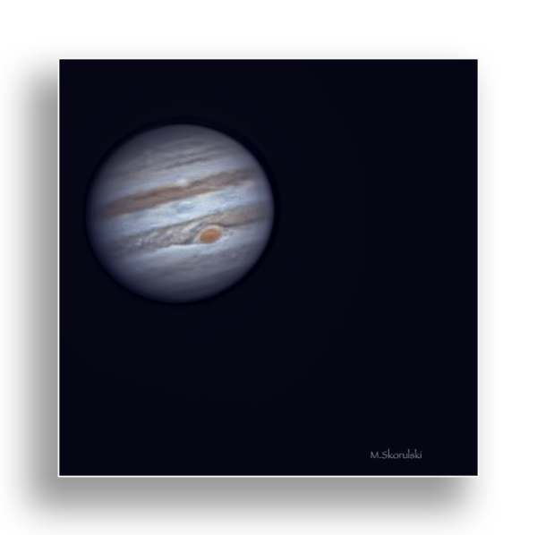 Jupiter with its Great Red Spot.