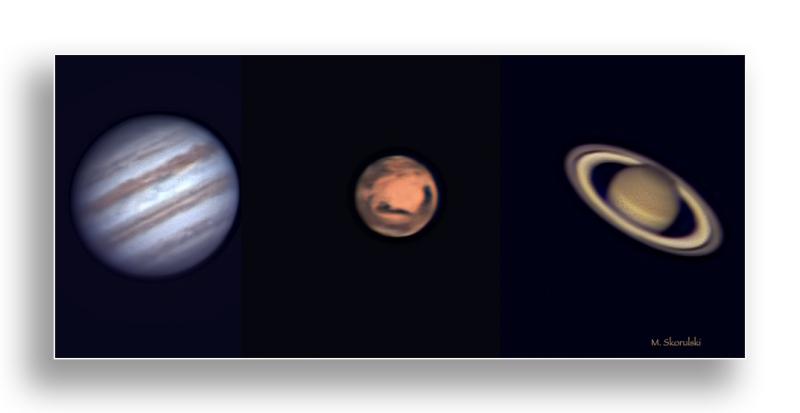Jupiter, Mars, Saturn