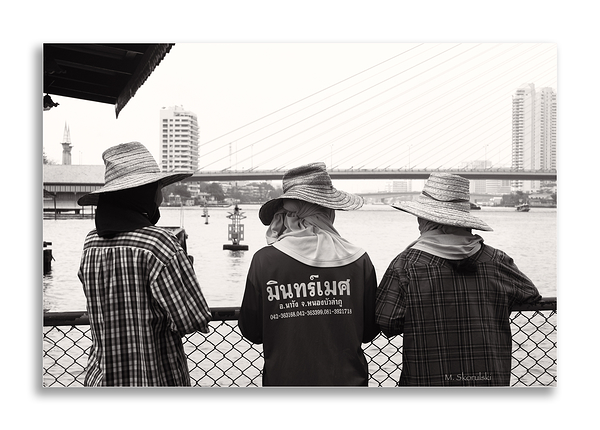 Three Straw Hats
