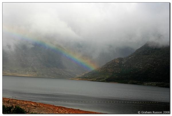 berg river dam rainbow