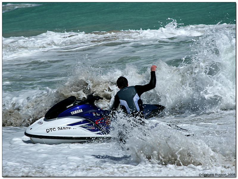 Jetski langebaan waves battered