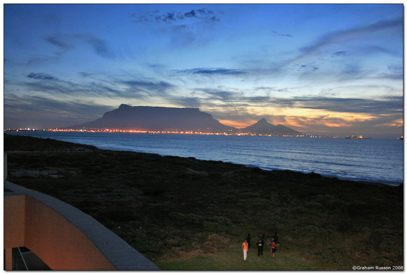 sunset beach table mountain