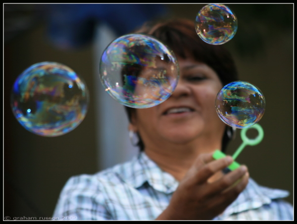 looking back bubbles