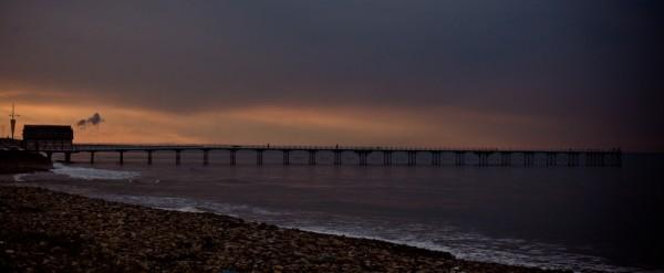 Landscape shot of saltburn pier.