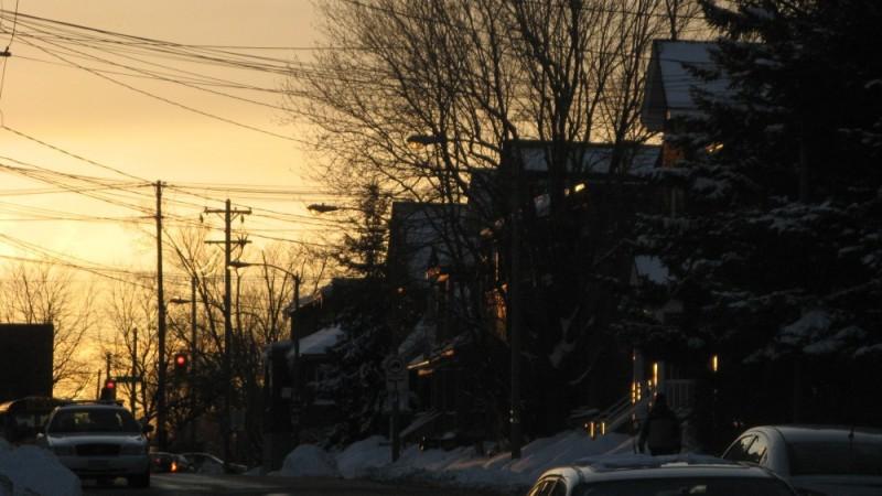 Sunset on Lees Avenue