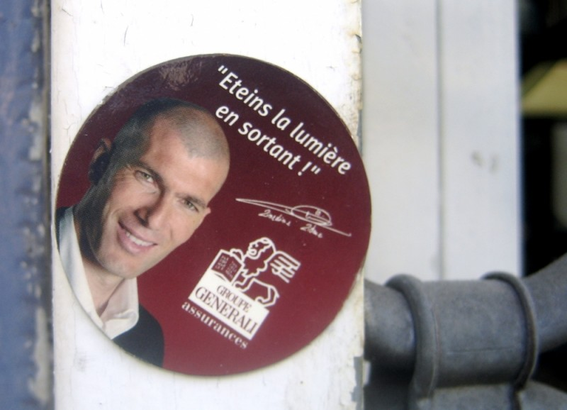 Zidane extolling the virtues of energy saving